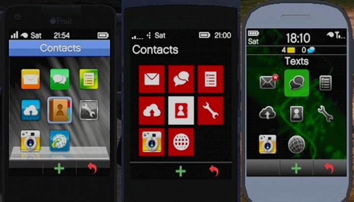 Мобильные телефоны главных героев в GTA 5