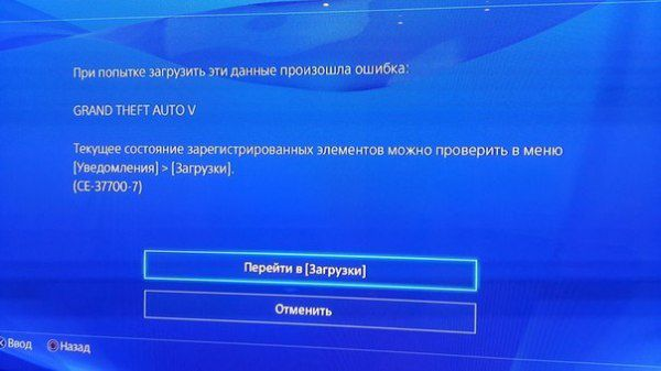Пользователи сообщают об ошибке CE-37700-7. Ошибки и проблемы с предзагрузкой GTA 5 для PS4