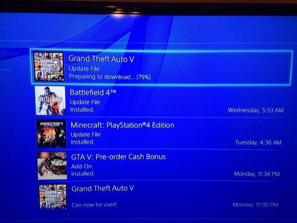 GTA 5 Патч 1.03 размером в 1.14GB доступен для PS4. Ошибка CE-34878-0 ломающая игру, удаление оружия