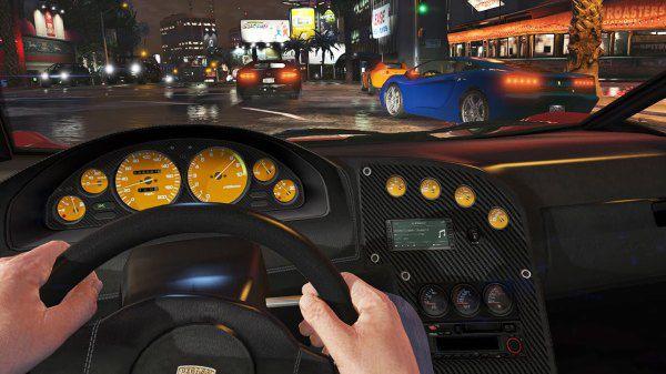 Управление автомобилем с видом от первого лица в новой версии GTA 5