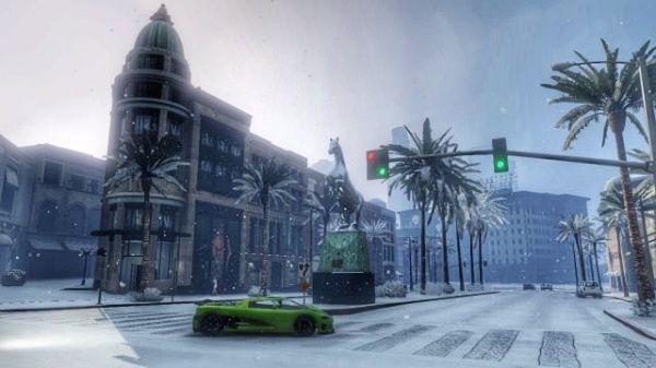 GTA Online снег