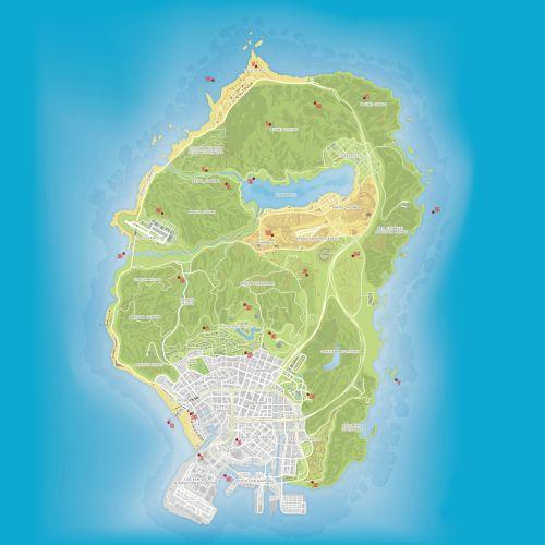 Карта растений пейота