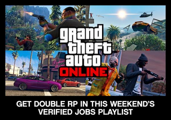 Двойные очки RP в эти выходные при выполнении Работ из утвержденного плэйлиста в GTA Online