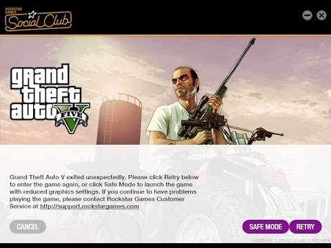 Grand Theft Auto exited unexpectedly