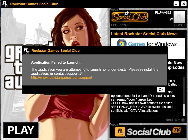 Ошибки Rockstar Games Social Club