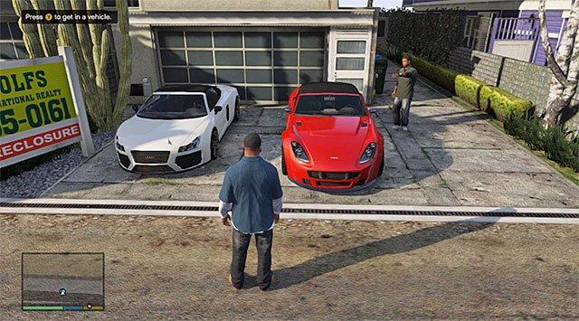 Замена транспорта в GTA V