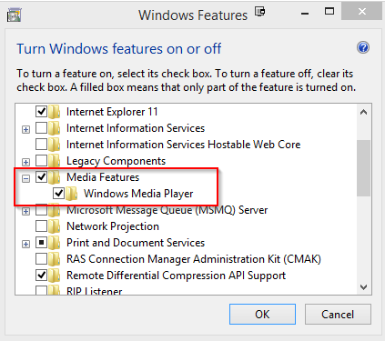 Не удается обнаружить Windows Media Player