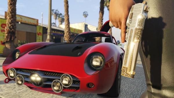 Транспортное средство и пистолет из будущего обновления для GTA Online