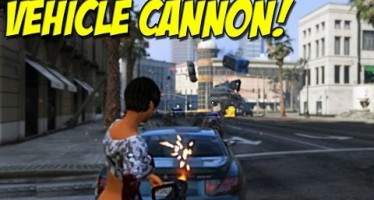 Нелепый, смешной и прикольный мод к GTA 5 PC – оружие, стреляющее машинами