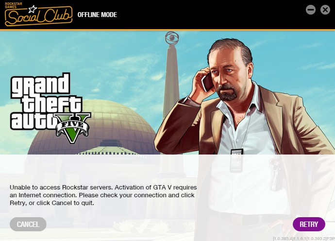 Unable to access Rockstar servers