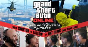 Сессии GTA Online: события в свободном режиме с участием Lazlow, Swiftor и Hat Films (также известных как Stunt Lads)