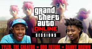 Смотрите последний эпизод из серии «Сессии GTA Online» с участием Tyler the Creator, Odd Future и Danny Brown