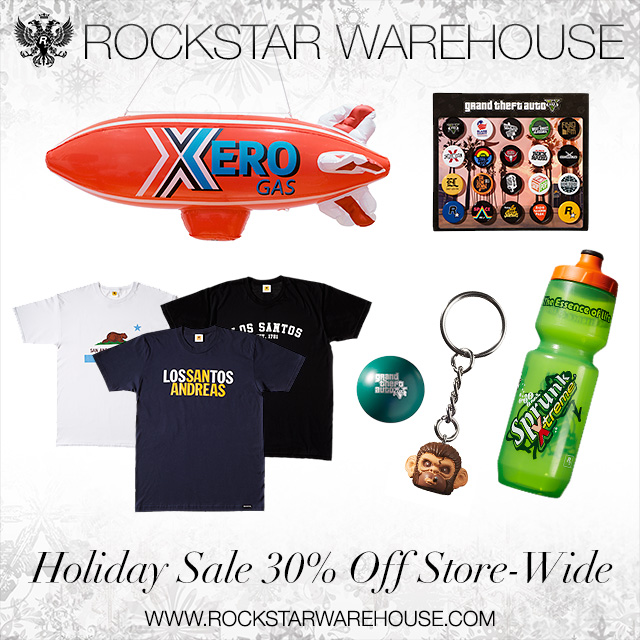 Праздничная распродажа в Rockstar Warehouse: до 22 декабря действует скидка 30% на все товары