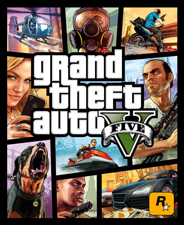 Официальная иллюстрация для обложки Grand Theft Auto V