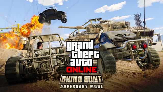 «Охота на носорога»: новый режим противоборства в GTA Online