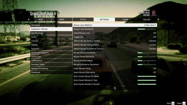 Управление в Grand Theft Auto V