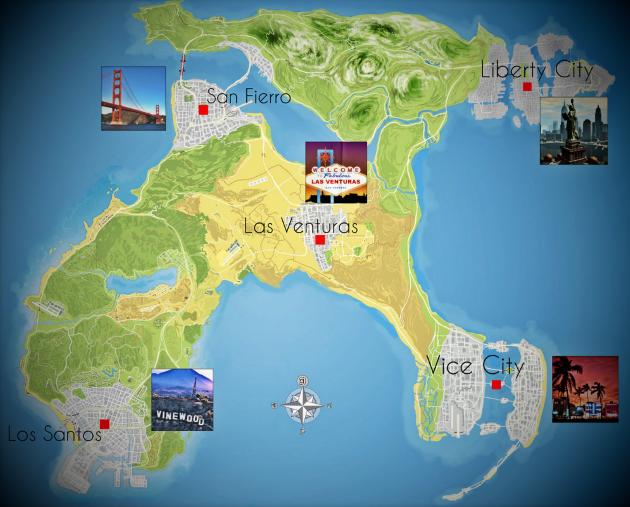 Карта GTA 6