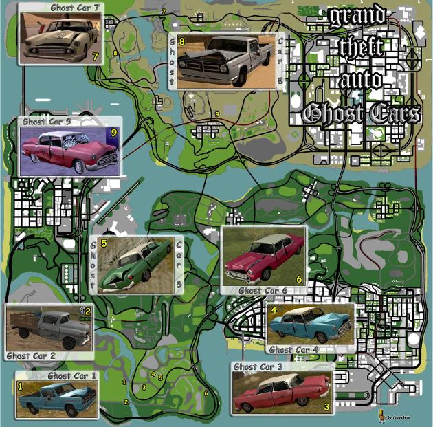 карта Gta San Andreas со всеми ее пасхалками и секретами