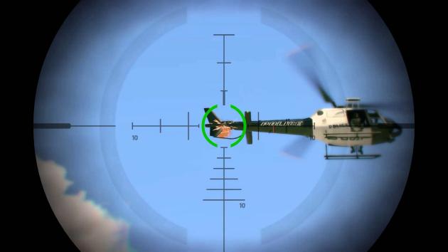Уничтожение вертолета