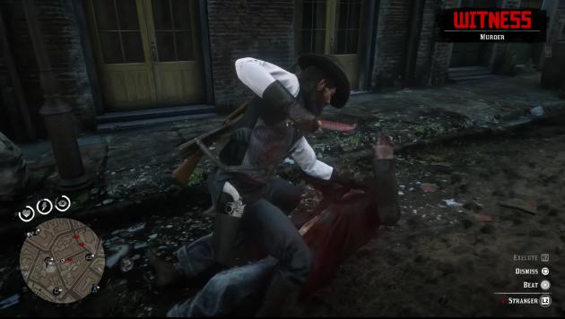 Убийство в Red Dead Online