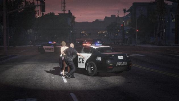 Игрок в роли полицейского