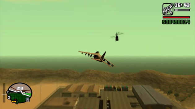 Уничтожение вертолета в GTA