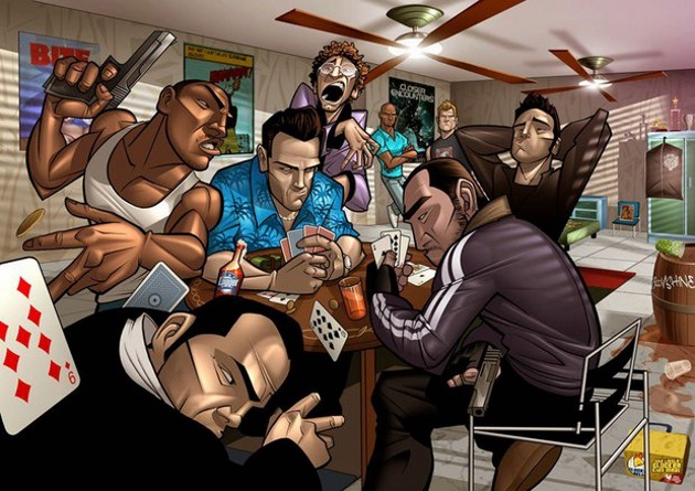 Главные герои серий GTA