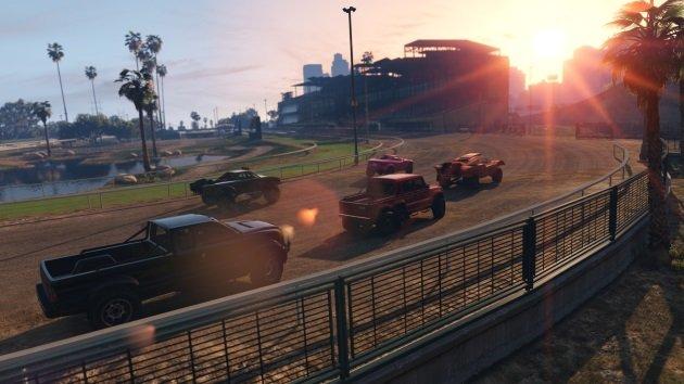 Гонка на пикапах в GTA Online
