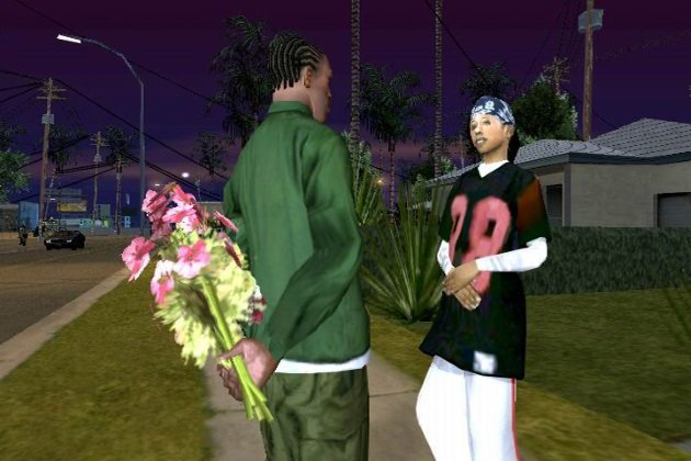 Букет цветов в GTA San Andreas