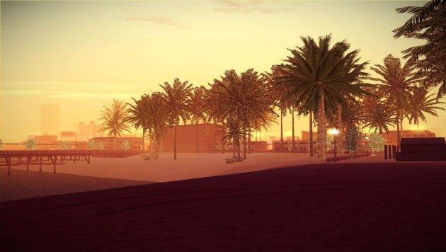 Роскошный пляж в GTA San Andreas