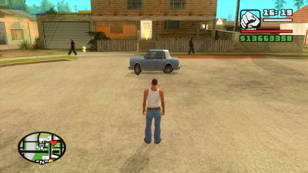 Короткая машина в GTA San Andreas