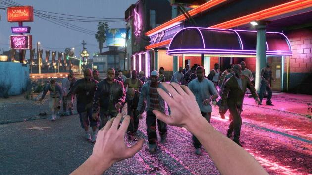 Орда зомби в GTA 5