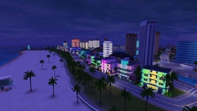 Красочный и красивый вид в GTA Vice City