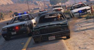 Полицейская погоня в GTA 5